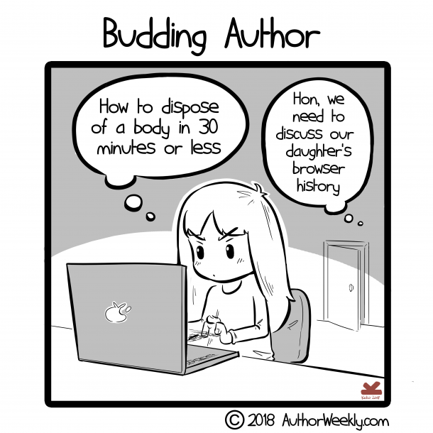 Budding Young Author Comic