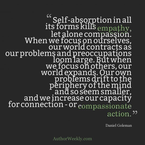 Daniel Coleman Quote Self Absorption