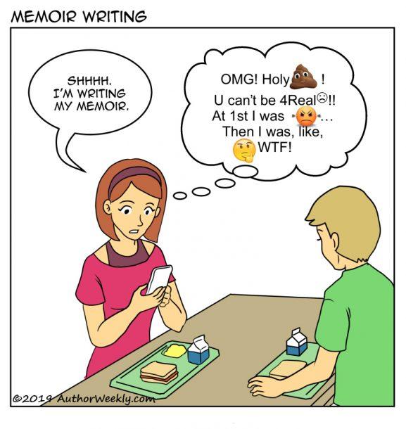 Memoir Writing Cartoon Comic