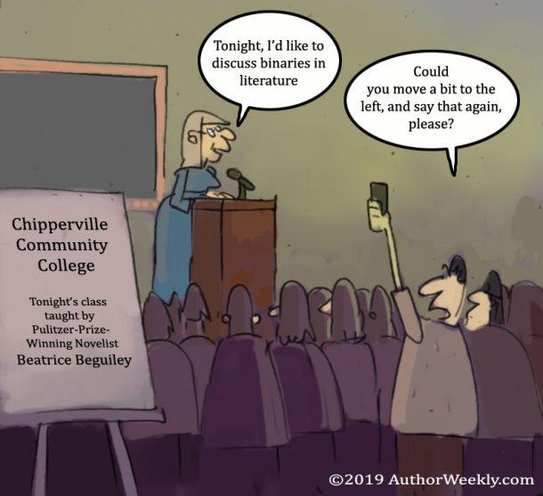 Cartoon/Comic: Community College Professor