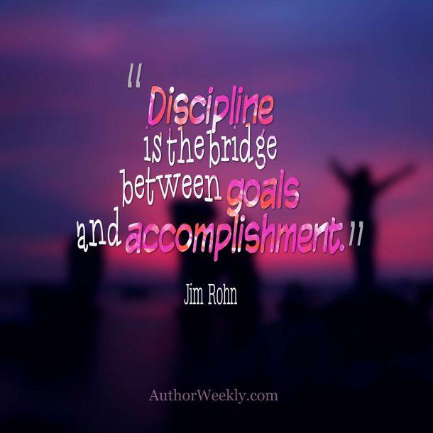 Jim Rohn Quote Discipline Goals