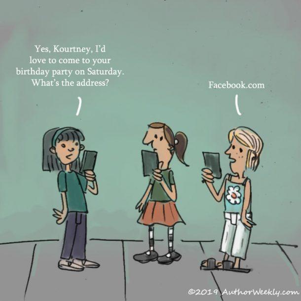 Tweens Facebook Birthday Party | Cartoon/Comic