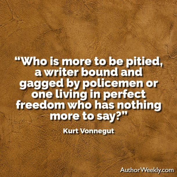 Kurt Vonnegut Writing Advice Quote: Who is More to be Pitied