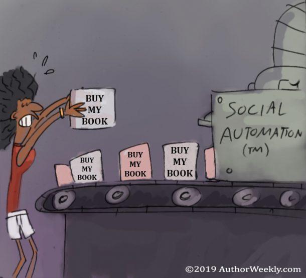 Social Automation: Buy My Book | Cartoon/Comic