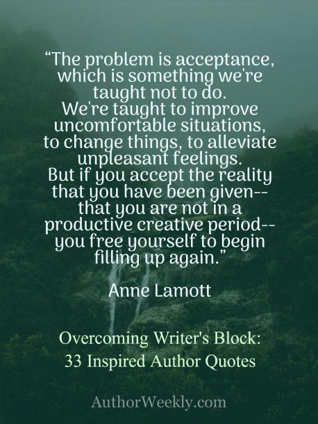 Anne Lamott Quote on Writer's Block