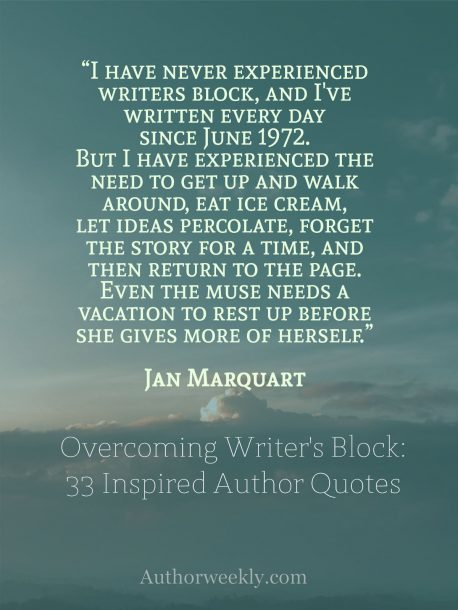 Writer's Block Quote Jan Marquart