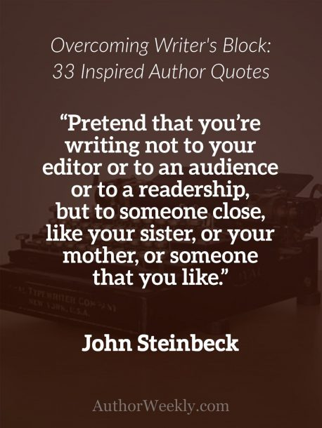 John Steinbeck on Writer's Block: Quote