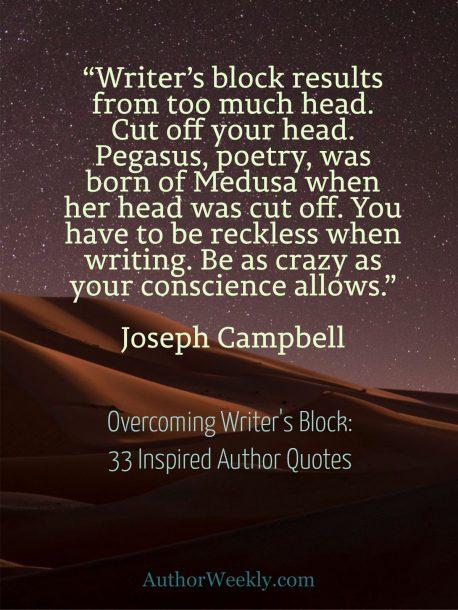 Joseph Campbell on Writer's Block: Quote