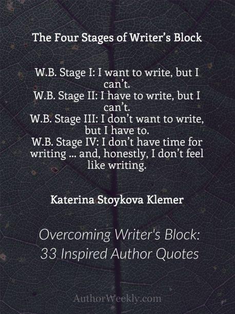 Katerina Stoykova Klemer on Writer's Block: Quote