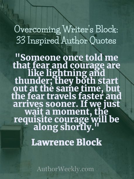 Writer's Block Quote Lawrence Block