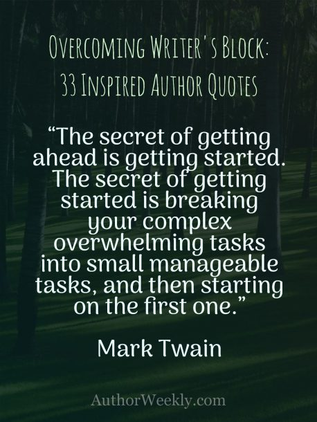 Writer's Block Quote Mark Twain