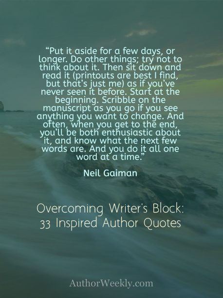 Neil Gaiman Quote on Writer's Block